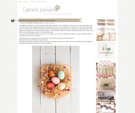Carnets Parisiens : colorer les oeufs de Pâques avec des colorants naturels