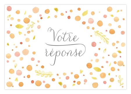 Carton réponse RSVP mariage Dioton