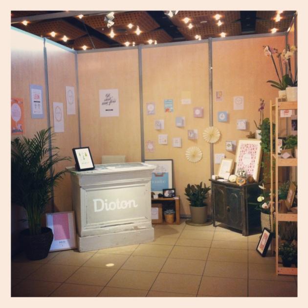 Stan des faire-part Dioton au Salon du Bébé Auvergne