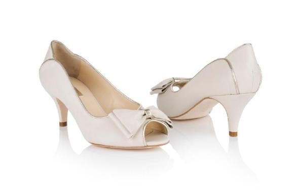 Chaussures mariage vintage rétro Lulu Ivoire