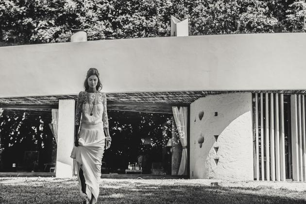 La robe de mariée Palma par Laure de Sagazan sur la e-boutique Olympe