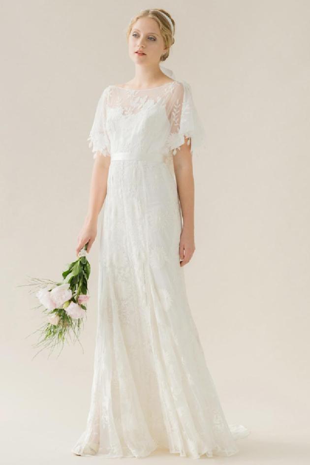 La robe de mariée Poppy par rue de Seine avec son haut très vintage