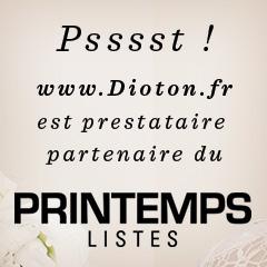 Dioton faire part de mariage prestataire partenaire Listes Printemps