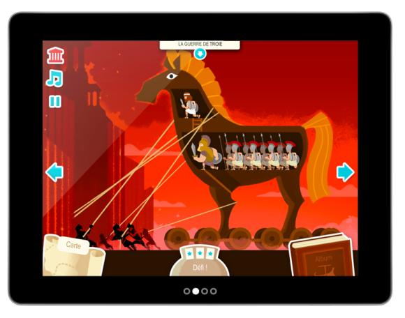 Appli iPad Ulysse pour apprendre l'histoire