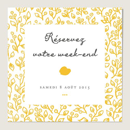 Save the Date mariage design Lune de Miel