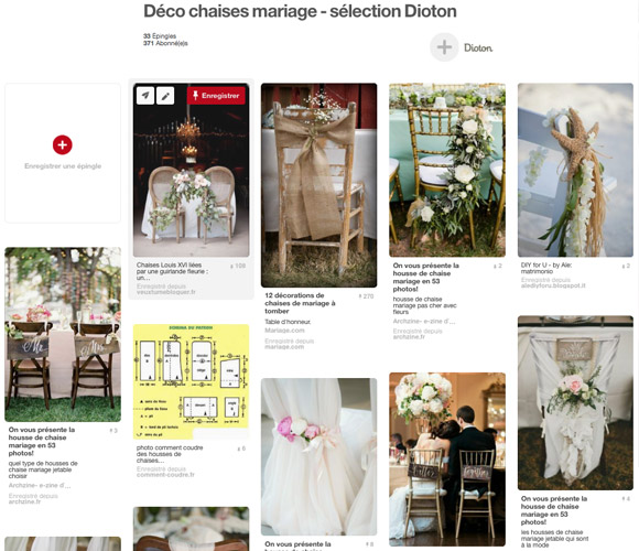 pinterest inspiration deco chaise mariage