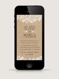 Faire-part-mariage-electronique-iPhone-Dentelle