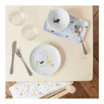 Vaisselle pour enfants illustrée par little Cube