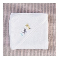 Serviette éponge enfant brodée illustrations little Cube