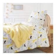 draps de lit enfant illustrés par little Cube