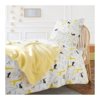 draps de lit enfant illustrés par little Cube